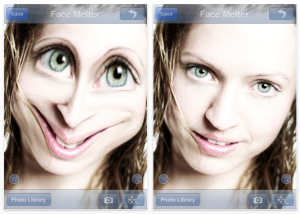 Face Melter app for iPhone