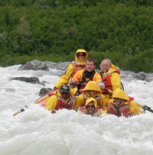Ben in the rapids of Sheridan River, Cordova AK