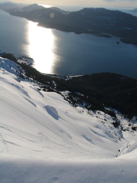 Dropping into the descent from Wolverine Ridge, Cordova AK