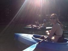 Sam and Melissa & Emily kayaking
