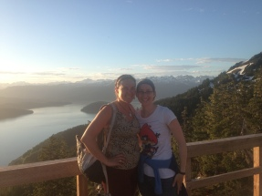 Sam and I at 10pm at Top Station, Mt Eyak Ski Area