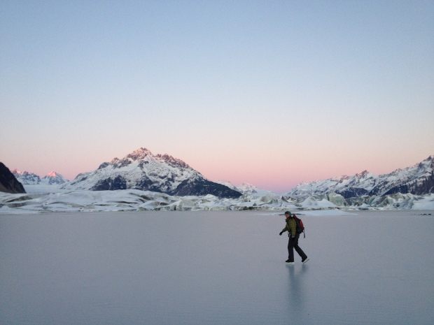 Skating at Sheridan Glacier